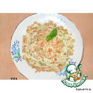 Рецепт Овощной салат с мясом криля