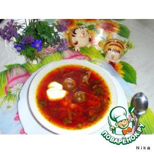 Рецепт Борщ с крапивой