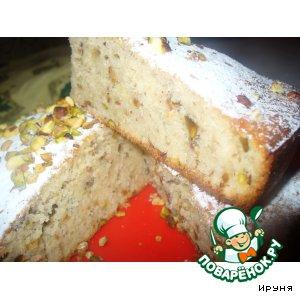 Рецепт Фисташковый кекс на йогурте
