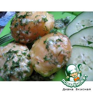 Рецепт Молодая картошка с чесноком и укропом в сливочном масле