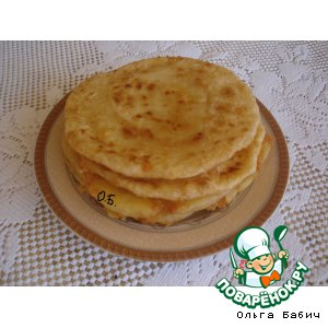 Лепешки с сыром за 5 минут