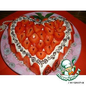 Рецепт Сливочно-йогуртовый желейный тортик