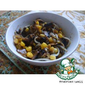Рецепт Теплый салат из шампиньонов