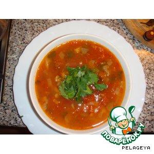 Рецепт Арабский томатный суп с фасолью