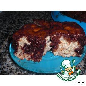 Рецепт Ореховый бисквит с шоколадным сиропом