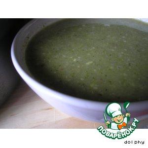 Рецепт Суп из брокколи с кедровыми орешками