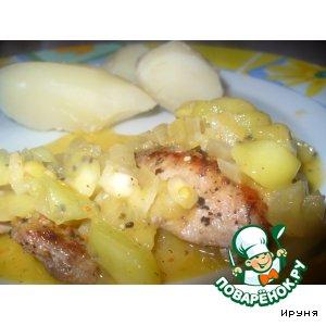 Рецепт Свинина в соусе киви с вином