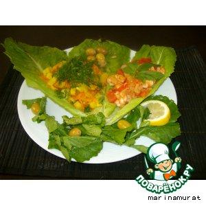 Рецепт Креветки с овощным гарниром