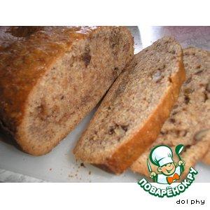 Рецепт Быстрый банановый хлеб с орехами