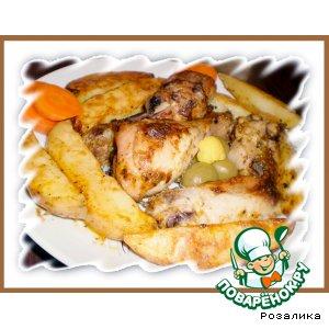 Рецепт Картошка запеченная с курицей по-восточному