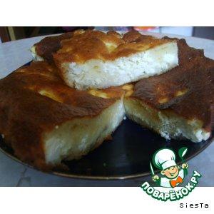 Рецепт Пирог творожно-банановый
