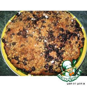 Рецепт Пирог с чeрной смородиной и киви