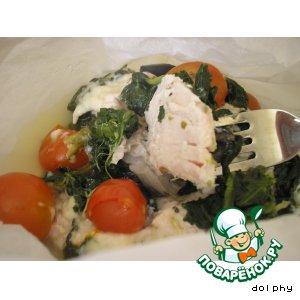 Рецепт Курица по-гречески в бумажных кулечках