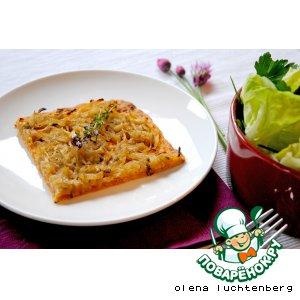 Рецепт Луково-сырный тарт
