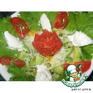 Рецепт Салат с авокадо и творожным сыром