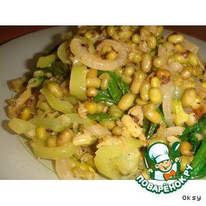 Рецепт: Маш со шпинатом и сладким перцем