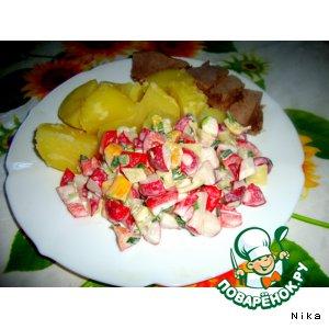 Рецепт Овощной салат к мясу