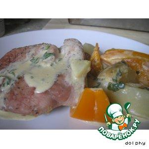 Рецепт Жаркое из свинины со сливочно-горчичным соусом