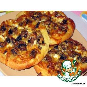 Рецепт Картофельные лепешки с грибами и сыром