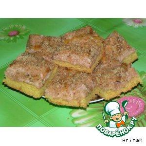 Рецепт Яблочное пирожное с орехами и корицей
