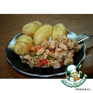 Рецепт Свинина с помидорами и каперсами