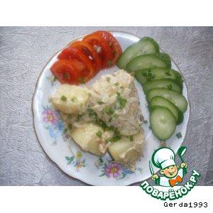 Рецепт Мясо с картошкой, запечeнные в фольге