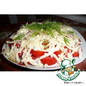 Рецепт Мой крабовый салат с помидорами