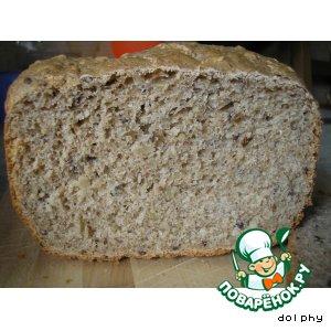 Рецепт Цельнозерновой хлеб с семенами льна, подсолнуха и кунжутом