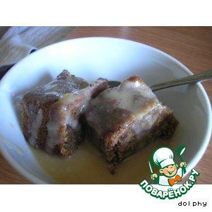 Рецепт Пудинг из фиников с карамельным соусом