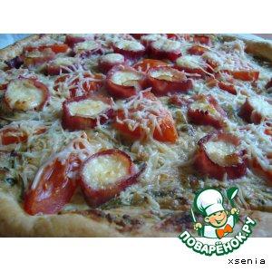 Рецепт Слоеный пирог-пицца