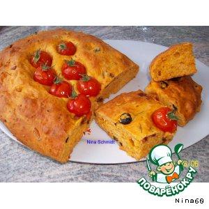 Рецепт Focaccia mit Tomaten - фокачча с томатами