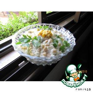 Рецепт Салат кукурузно-яблочный