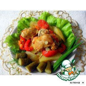 """Рецепт Свинина запеченная с овощами или """"Ужин от лентяйки"""""""