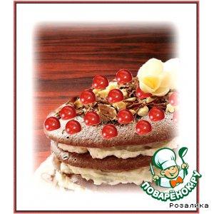 Рецепт Шоколадные меренги с рикоттой и вишней