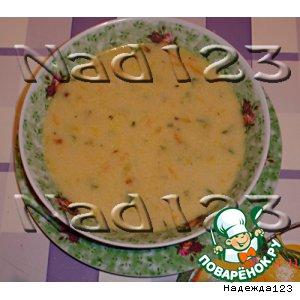 """Рецепт Суп с плавлеными сырками """"Дружба"""""""