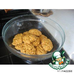 Рецепт Овсяное печенье с пудингом и семечками