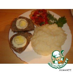 Рецепт Мясной рулет с мятой и яйцами
