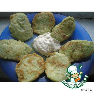 Рецепт Оладушки из кабачков, картофеля и лука
