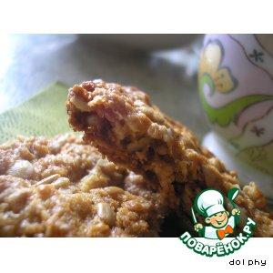 Рецепт Печенье АНЗАК/ANZAC с семенами подсолнуха и имбирем