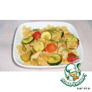Рецепт Бантики с куриным филе и овощами