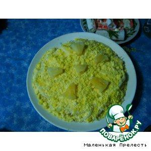 Рецепт Салатик с ананасом