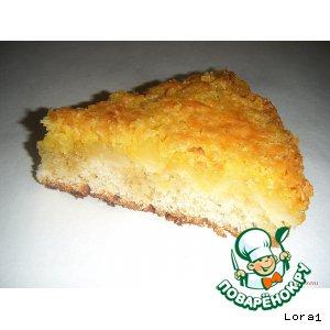 Рецепт Ананасовый пирог с кокосовой карамелью