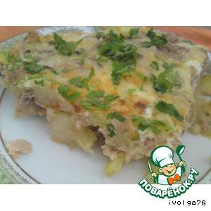 Рецепт Фриттата или омлет с кабачком и тунцом