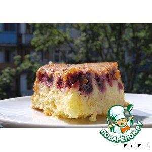 Рецепт Сливочный пирог с вишней