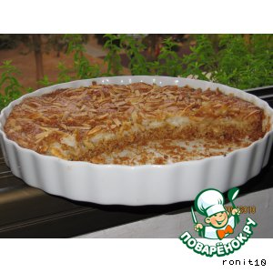 Рецепт Пирог орехово-имбирный