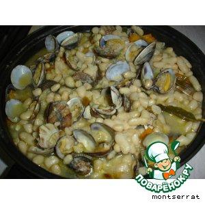 Рецепт Alubias blancas con almejas - белая фасоль с ракушками