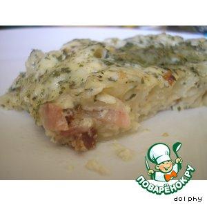 Рецепт Запеканка из макарон с сыром, цветной капустой и беконом