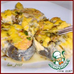 Рецепт Рыба под сливочным соусом с зеленью
