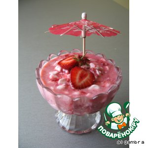 Рецепт Розовый десерт