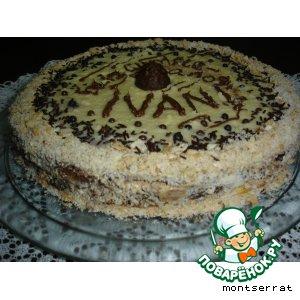 Рецепт Песочно-миндальный торт с шоколадным кремом